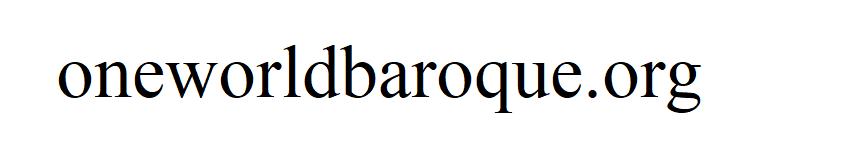 One World Baroque